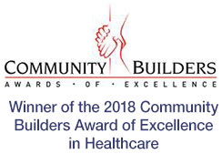 Winner of the 2018 Community Builders Award of Excellence in Healthcare